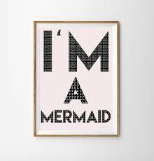 i u0027m a mermaid children u0027s print by munks and me