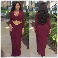 online get cheap plus size red long sleeve mermaid dress