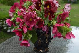 Red Flowers In A Vase In A Vase On Monday In The Red The Blooming Garden
