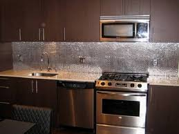 Metallic Tile Backsplash by Kitchen Interior Metal Kitchen Backsplash Ideas Nice Decor Trends