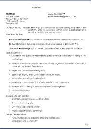Microbiologist Sample Resume Sample Cv Physician