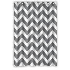 Chevron Pattern Curtains Grey And White Chevron Shower Curtain Home Design Hay Us