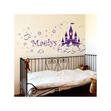 stickers chambre fille princesse stickers château de princesse avec prénom décoration chambre fille