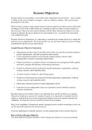 Is An Objective Needed On A Resume Entry Level Resume Objective 12 Good Sample Entry Level Resume