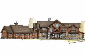 mountain lodge with sun room 18704ck architectural designs