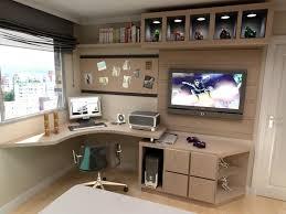 home office with tv home office móveis pretos com partes amarelas parede cinza diy