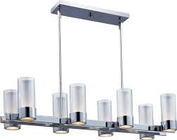 Brushed Nickel Dining Room Light Fixtures by Maxim Lighting 23079clftpc Silo Modern Contemporary Rectangular