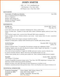 Resume Templates For Software Engineer 8 Latex Resume Template Software Engineer Resume Cover Note