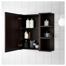 lillången mirror cabinet 1 door 2 end units white ikea