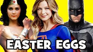 supergirl top 17 season 2 easter eggs wonder woman batman