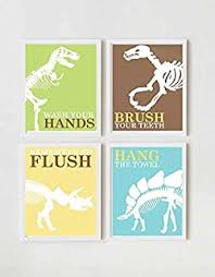 Dinosaur Bathroom Decor by Amazon Com Modona Four Piece Kids Bathroom Accessories Set