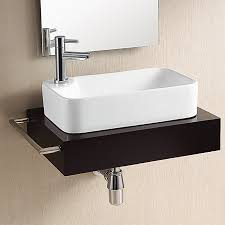 shop nameeks ceramica white ceramic vessel rectangular bathroom