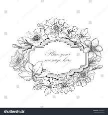 Invitation Card Border Flower Frame Vintage Floral Border Old Stock Vector 236248693