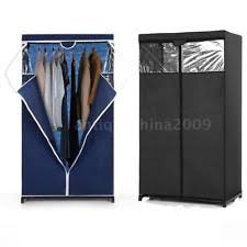 ikayaa fabric storage clothes closet wardrobe organizer cabinet