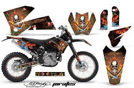 ktm c4 graphic kit 2005 2006 sx 2005 2007 exc