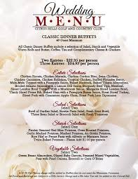 wedding buffet menu ideas fascinating wedding buffet menu learn more citrus and