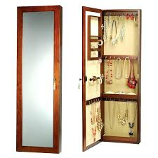 wall mirror jewelry cabinet wall mounted mirrored jewelry armoire ed wall hanging mirror jewelry