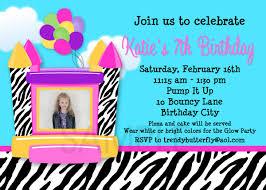 printable birthday invitations bounce house invitation
