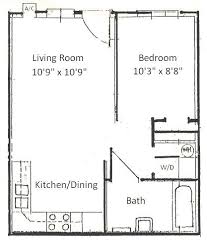 1 bedroom floor plan basham rentals 204 s salisbury 1 bedroom floor plan