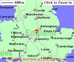 map of east uk east midlands airport ema guide flights