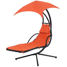 Outdoor Hanging Lounge Chair Hanging Chaise Lounge Chair With Canopy Hammocks Outdoor