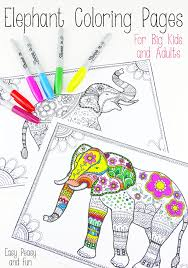 elephant love coloring page free adult coloring pages the cottage market