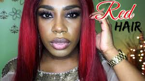 dyed weave hairstyles how to dyed your hair red sew in weave be my valentine s youtube
