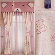 pink animal cute decorative kids curtains without valance