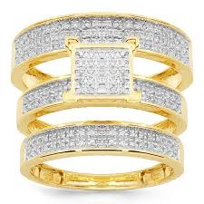 wedding ring trio sets bridal ring sets wedding trio sets avianne co