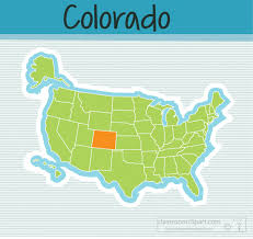 map us states colorado clipart us map state colorado square clipart image classroom