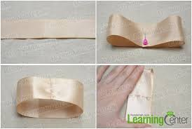 ivory satin ribbon how to make a simple hair bow out of bicolored ribbons pandahall