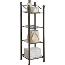 Wrought Iron Bathroom Shelves Free Standing Bathroom Shelving You U0027ll Love Wayfair