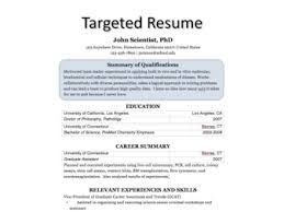 Job Skills Resume by Targeted Resume Process