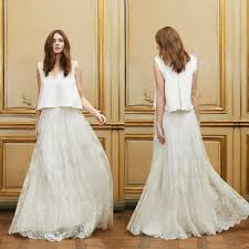 vintage lace top wedding dresses boho vintage inspired chiffon wedding dress with chantilly lace