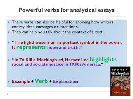 great verbs for analytical writing lo can i use appropriate