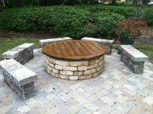 Diy Firepit Table Diy Pit Cover Garden Pinterest Diy Pit Teak And