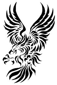 tribal eagle design idea