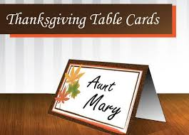 free printable place cards template for thanksgiving