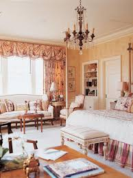 french country bedrooms white bed clasic bed burlap window shades