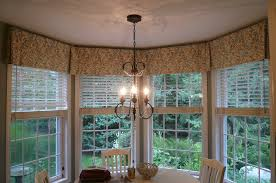 bay window valance box pleated valance to tie 4 windows together