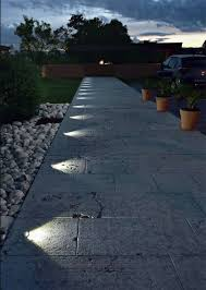In Ground Landscape Lighting Recessed In Ground Lighting Suddenly Turns This Pathway Into A
