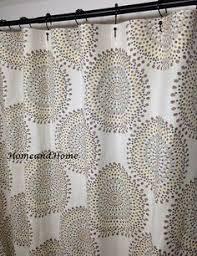 dark red gray tan shower curtain flowers custom monogram