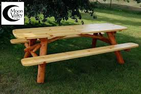 rustic outdoor picnic tables rustic picnic tables macromode co
