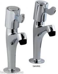 KITCHEN SINK PILLAR TAPS LEVER TYPE CP PAIR CHROME NEW - Kitchen sink pillar taps