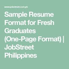 Sample Resume In The Philippines by The 25 Best Sample Resume Format Ideas On Pinterest Cover