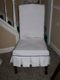 Fabric Chair Covers For Dining Room Chairs Decoration Farm House White Fabric Chair Cover Decor With Ruffle