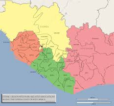 Liberia Africa Map by Liberia Poro Studies Association