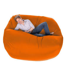 bean bag massive orange designer bean bag