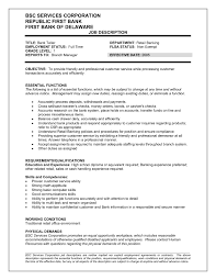 Resume Objective Examples For Bank Teller by Resume Objective For Bank Job Resume For Your Job Application
