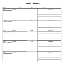 how to write a weekly report sample sample weekly report weekly